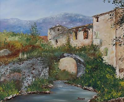 Tuscan Bridge Art Print
