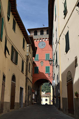 Photograph - Tuscan Clock Tower. by Terence Davis