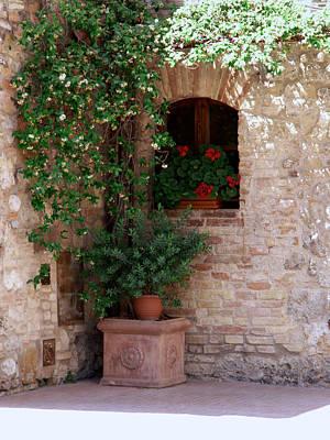 Art Print featuring the photograph Tuscan Corner by Sandy Molinaro