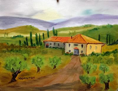 Painting - Tuscan Cottage by Larry Hamilton