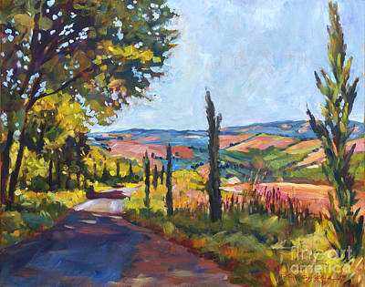 Painting - Tuscan Country Road by David Lloyd Glover