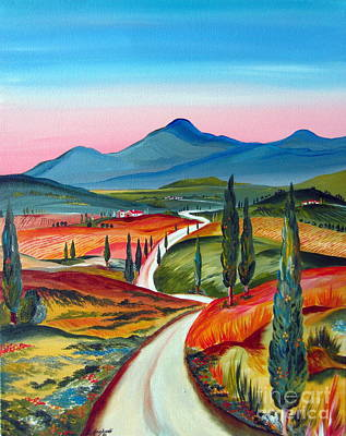 Tuscan Country Road To A Dreamland Original