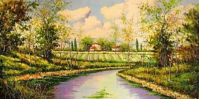 Tuscan Hills Painting - Tuscan Country Val D'orcia Pb4 by Paolo Brancaccio
