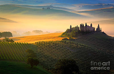 Tuscany Italy Photograph - Tuscan Dawn by Inge Johnsson