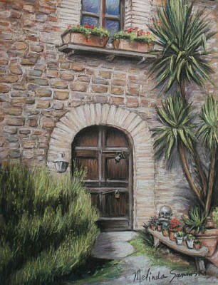Tuscan Doorway La Parrina Art Print