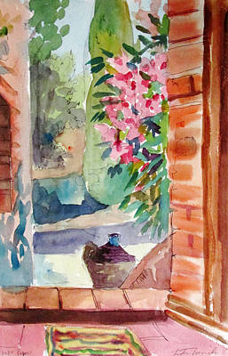 Painting - Tuscan Doorway by Linda Novick
