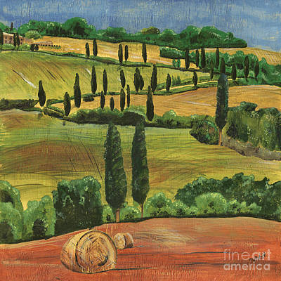 Hills Painting - Tuscan Dream 1 by Debbie DeWitt