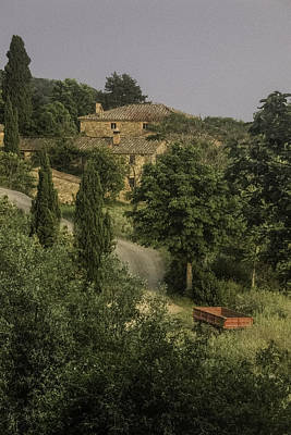Photograph - Tuscan Estate by Curtis Dale