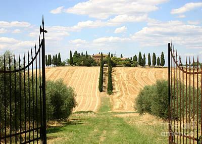 Laneway Photograph - Tuscan Estate by Holly C. Freeman