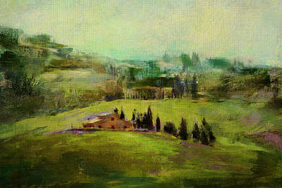 Photograph - Tuscan Farmhouse by Carla Parris