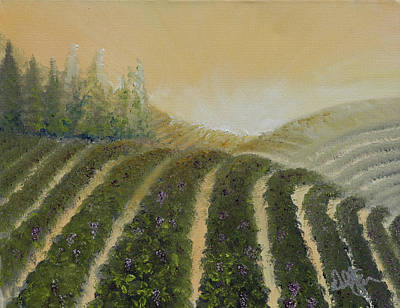 White Painting - Tuscan Fields by David Kacey