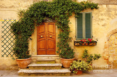 Photograph - Tuscan Front Door by Brian Jannsen