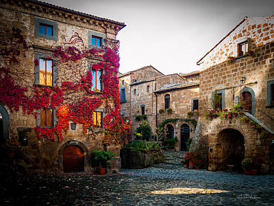 Impressionist Landscapes - Tuscan Hill Town by Sheldon Anderson
