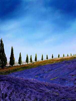 Tuscan Hills Painting - Tuscan Hills by Cecilia Frigati