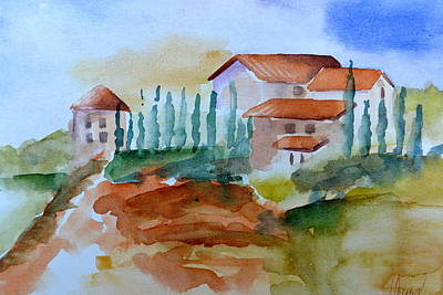Tuscan Hills Painting - Tuscan Hills I by Jo Powers