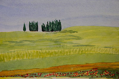 Tuscan Hills Painting - Tuscan Hills by Vicky Kasparian