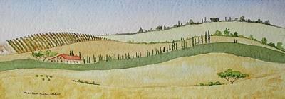 Tuscan Hillside Four Original