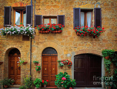 Tuscan Hills Photograph - Tuscan Homes by Inge Johnsson