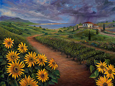 Painting - Tuscan Landscape by Claudia Goodell