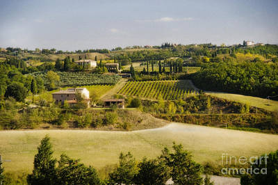 Tuscan Landscape Art Print by Jim  Calarese