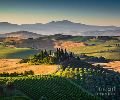 Tuscan Morning Print by JR Photography
