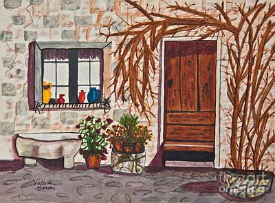 Painting - Tuscan Portal Watercolor Art Prints by Valerie Garner