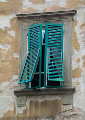 Tuscan Shutters Art Print by Michael Flood