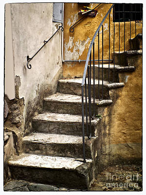 Flight Of Stairs Photograph - Tuscan Staircase by Mike Nellums