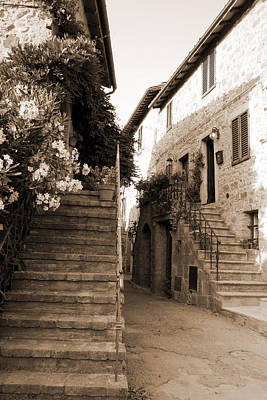 Photograph - Tuscan Stairways 2 by Donna Corless