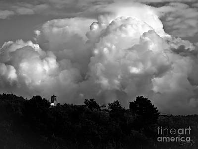 Tuscan Storm Rising From The Valley Art Print