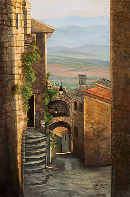 Tuscan Hills Painting - Tuscan Streets by Kellie Marshall