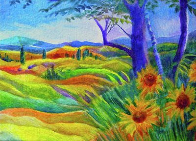 Painting - Tuscan Sunflowers by Kandy Cross