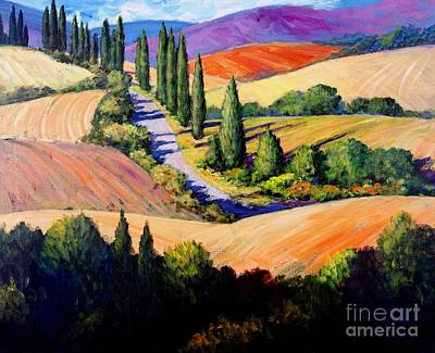 Wine Grapes Painting - Tuscan Trail by Michael Swanson