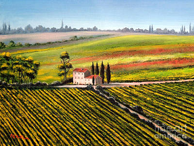 Tuscan Tranquillity Print by Bill Holkham