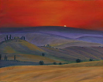Tuscan Twilight 2 Art Print