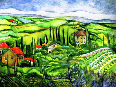 Painting - Tuscan Valley by Kandy Cross