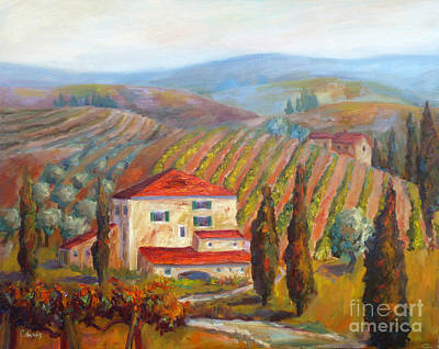 Painting - Tuscan View by Carolyn Jarvis
