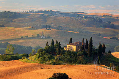 Rural Scenery Photograph - Tuscan Villa by Inge Johnsson