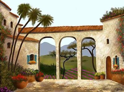 Painting - Tuscan Villa Of Beauty  by Larry Cirigliano