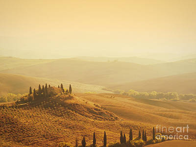 Photograph - Tuscan Villa Sunrise by iPics Photography