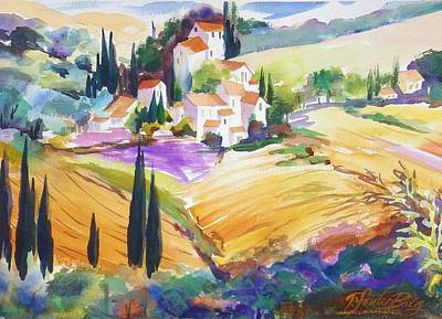 Painting - Tuscan Villas And Fields by Therese Fowler-Bailey