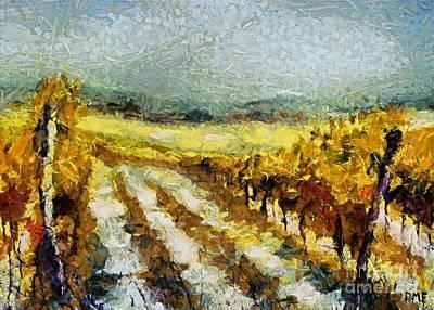 Tuscan Vineyard Art Print by Dragica  Micki Fortuna