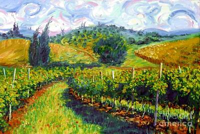 Italian Landscapes Painting - Tuscan Wind by Michael Swanson