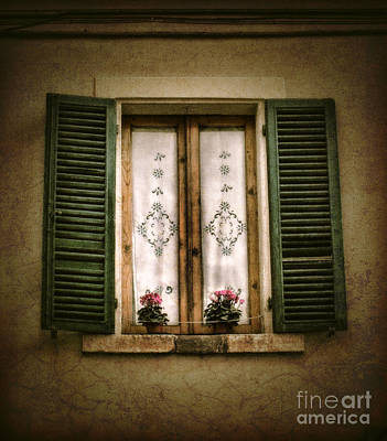 Photograph - Tuscan Window by Karen Lewis