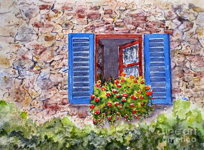 Residential Painting - Tuscan Window by Mohamed Hirji