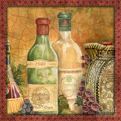 Pitcher Painting - Tuscan Wine-a by Jean Plout