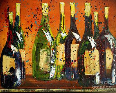 Tuscan Wine Original by Jodi Monahan
