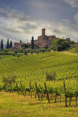 Vineyard Photograph - Tuscany - Castello Di Poggio Alla Mura by Joana Kruse