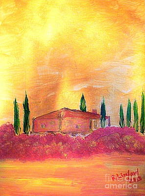 Villa Medici Painting - Tuscany 12 by Richard W Linford