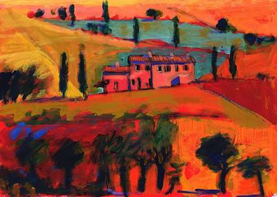 Tuscan Hills Photograph - Tuscany by Paul Powis